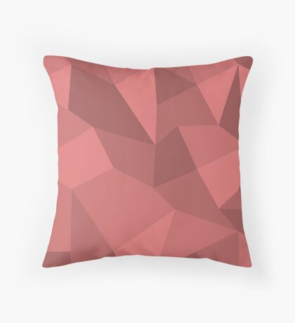 Poly Based - Red Throw Pillow