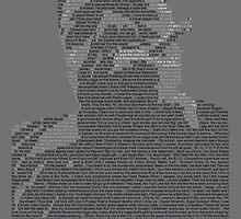 Biggie Lyric Portrait by Donal Murphy