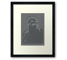Biggie Lyric Portrait Framed Print