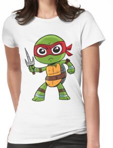 He's cool, but rude. Womens Fitted T-Shirt