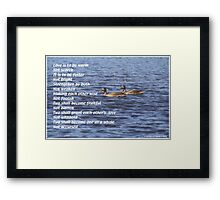 Love is to be Framed Print