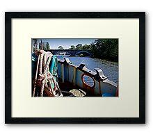 Grain barge Framed Print