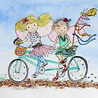 Bike Buddies by Amanda  Hazlett