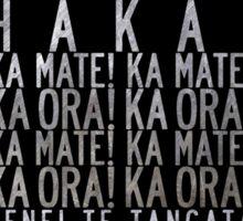 All Black Rugby New Zealand Haka Maori Mask Sticker