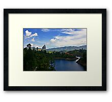 The Peñol Stone Landscape in HDR Framed Print