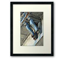 Support In Blue Framed Print