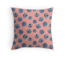 Blueberry pattern Throw Pillow