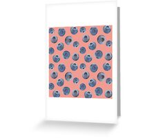 Blueberry pattern Greeting Card