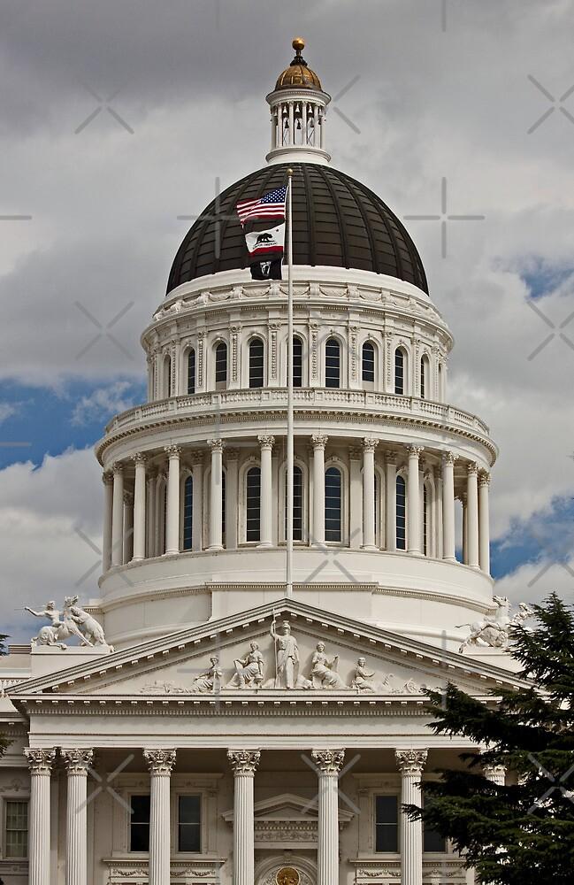 California State Capitol Building Sacramento by Buckwhite