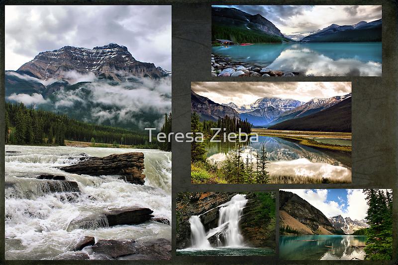 Canadian Rockies Collage by Teresa Zieba