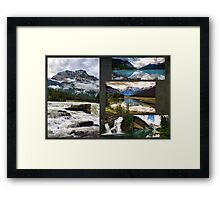 Canadian Rockies Collage Framed Print