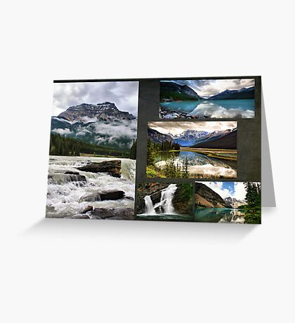 Canadian Rockies Collage Greeting Card