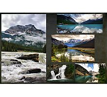 Canadian Rockies Collage Photographic Print