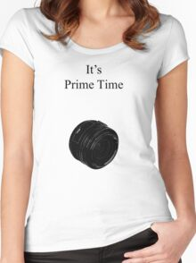 Prime Time Light Colored Women's Fitted Scoop T-Shirt