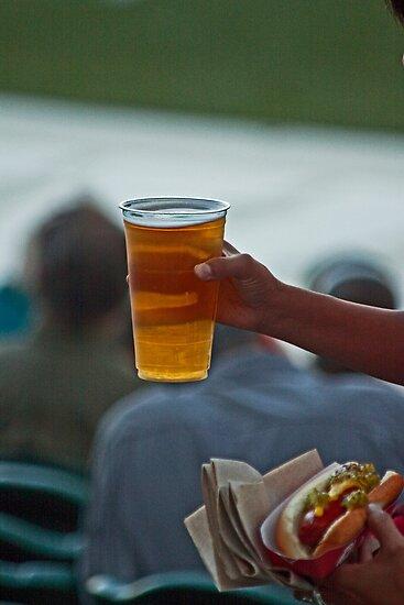 Paradise - Baseball, a Beer and a Hot Dog by Buckwhite