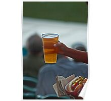 Paradise - Baseball, a Beer and a Hot Dog Poster