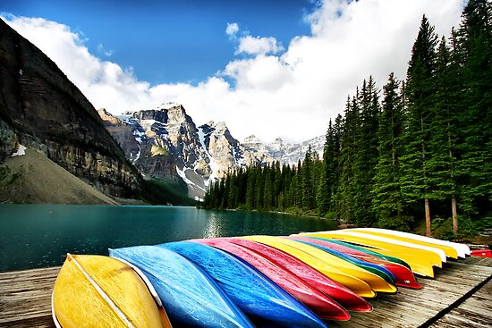 Moraine Lake, Banff Nat. Park by Teresa Zieba