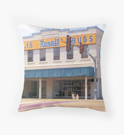 Gillis ReXall Drugstore - McComb, MS Throw Pillow