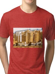 """The Oldest Skyscraper City in the World"" , Shibam, Yemen Tri-blend T-Shirt"