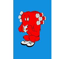 Gossamer reading  full color geek funny nerd Photographic Print