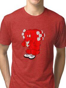 Gossamer reading  full color geek funny nerd Tri-blend T-Shirt