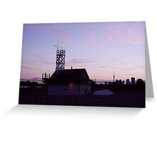 Leuty Lifeguard Station at Sunset Greeting Card