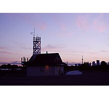Leuty Lifeguard Station at Sunset Photographic Print