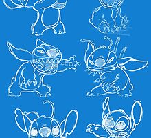 Rough Sketches of Stitch Collection by BethRoweArt