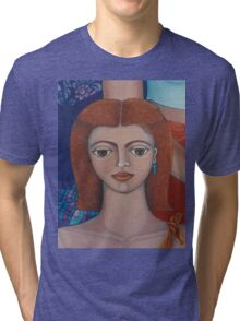 The young girl Tri-blend T-Shirt