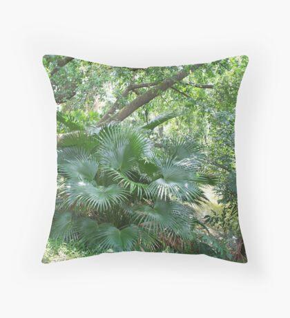 Giant Ferns Throw Pillow