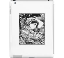 """Boreas"" - A trace monotype after John William Waterhouse. iPad Case/Skin"