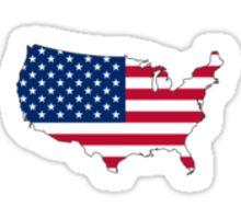 america american flag Sticker