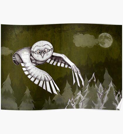 """""""Owlman Hunting"""" Poster"""