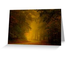 Mist of Autumn Greeting Card