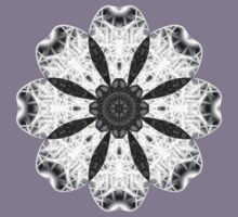 """""""Spirit of India: Fleur"""" in white, grey and black T-Shirt"""