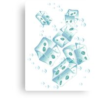 Ice Cubes Canvas Print