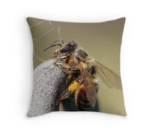 Resting Bee Throw Pillow