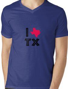 I love texas geek funny nerd Mens V-Neck T-Shirt