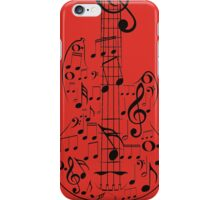 Guitar and Music Notes7 iPhone Case/Skin