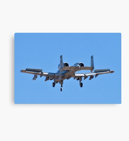 Backend of the A-10 Thunderbolt Canvas Print