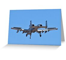 Backend of the A-10 Thunderbolt Greeting Card