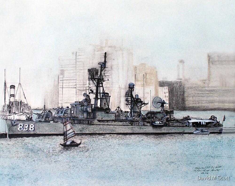 """DDR 838 USS Ernest G Small, """"Liberty Call 1965 Hong Kong by David M Scott"""
