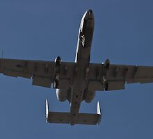An A-10 Thunderbolt takes off by Henry Plumley