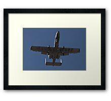An A-10 Thunderbolt takes off Framed Print