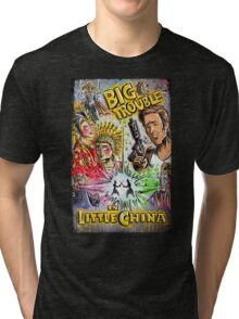 Big Trouble in Little China art jack burton john carpenter sci fi horror chinese japanese kung fu martial arts kurt russel storms girl Tri-blend T-Shirt