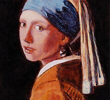 "Study of ""Girl With a Pearl Earring"", 1665, Johannes Vermeer. by Antony R James"