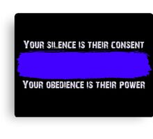Blue Code of Silence Canvas Print