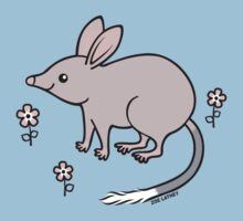 Pretty Bilby with Flowers Baby Tee