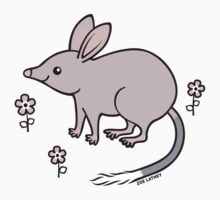 Pretty Bilby with Flowers One Piece - Long Sleeve