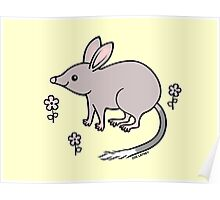 Pretty Bilby with Flowers Poster